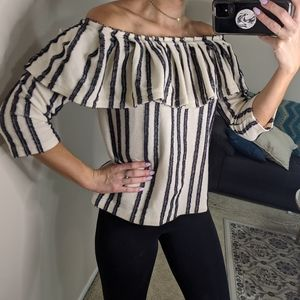 Banana Republic knitted off-the-shoulder top